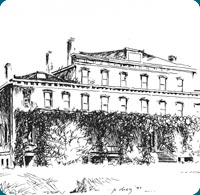 Sketch of the historic Lucy Cobb Campus home to the Institute