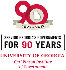 Carl Vinson Institute of Government 90th Anniversary logo