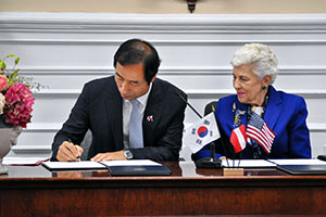 Exchange Agreement between Athens and Seoul District Government