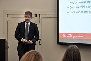 Vinson Fellows Present Results of Fall Semester Internship Projects