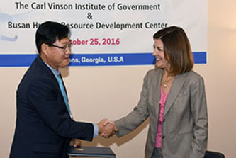 The Institute recently embarked on a new training partnership with Korea's Busan Metropolitan Government, similar to educational collaborations already in place with the Governors Association of Korea and the Seoul Metropolitan Government.