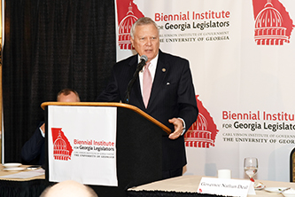 Governor closes Biennial with praise for Georgia's economic growth