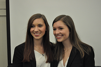 Vinson Fellows present results of fall semester internship projects