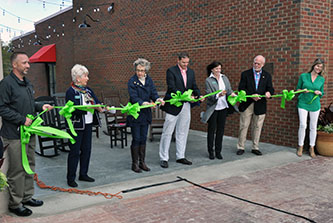 Three years after a calamitous fire, Clarkesville celebrated an ambitious rebuilding project that is the cornerstone of a citywide revitalization program the Institute coordinated with the Georgia Municipal Association and other partners.