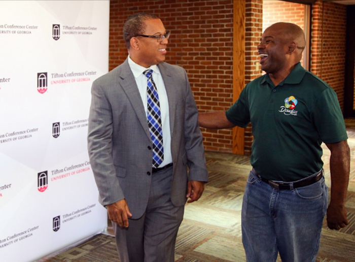 Pictured, l-r: Douglas City Manager Terrell Jacobs and Douglas City Commissioner of Ward 1 Edwin Taylor