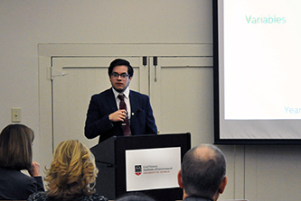 Vinson Fellows present results of spring semester research projects