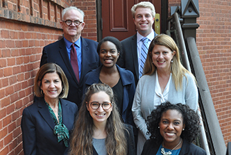 Fall semester's three Vinson Fellows explored local, state and international issues with faculty mentors and presented the results of their research projects at a gathering of Institute of Government faculty and staff.