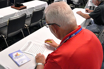 Faculty member Chrissy Marlowe leads a downtown revitalization class at the 2019 Georgia Municipal Association Annual Convention, held June 21–25 in Savannah.