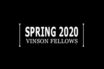 The three UGA students selected for spring semester's Vinson Institute Fellows Program capped their internships by presenting their project reports at a gathering of Institute faculty and staff.