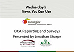 Department of Community Affairs Reporting and Surveys