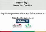 Illegal Immigration Reform and Enforcement Act-Reporting Requirements