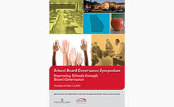 2013 School Board Governance Symposium
