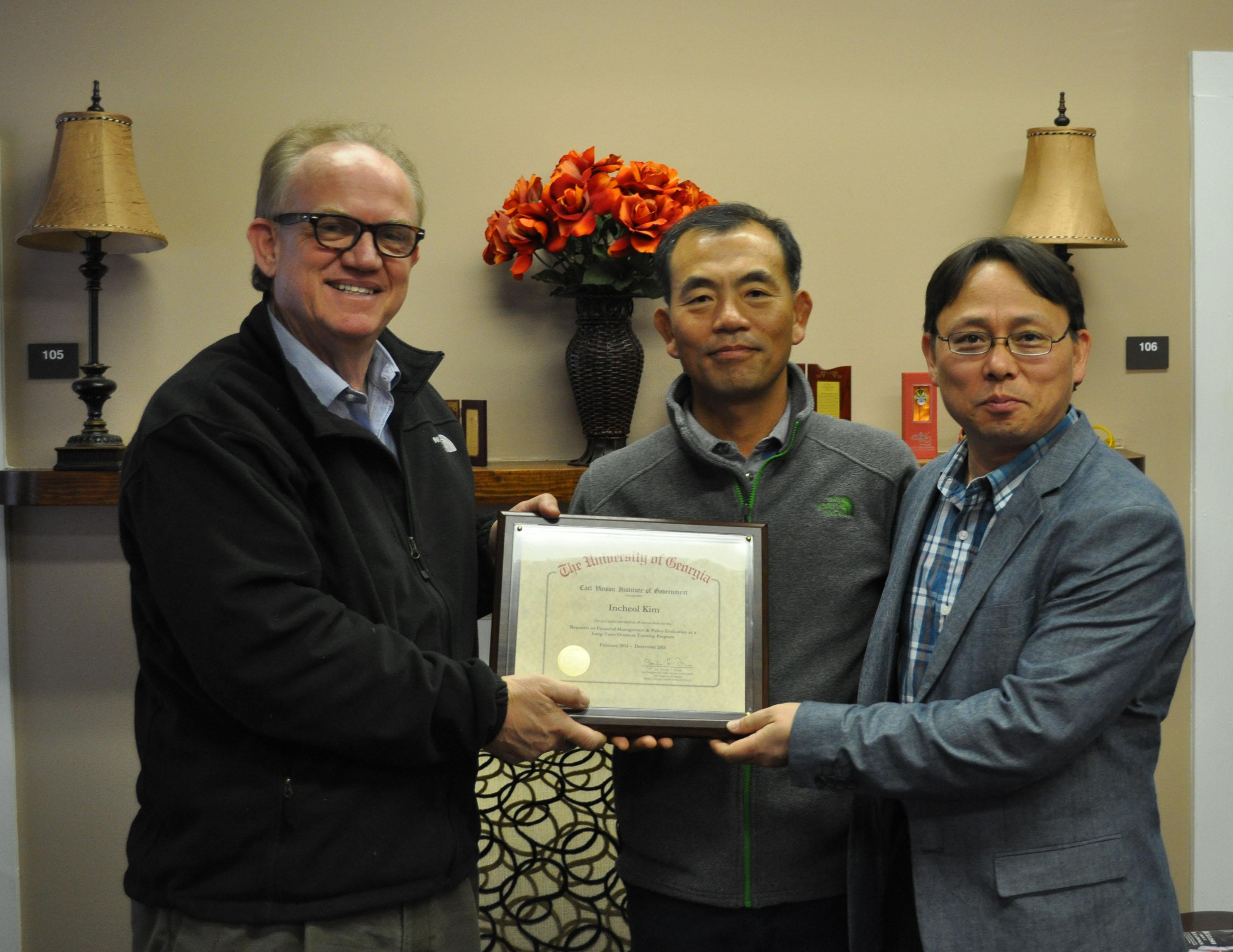 Incheol Kim Visiting Scholar - December 2014