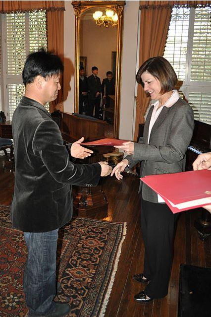 Signing Korean MOU - October 2011